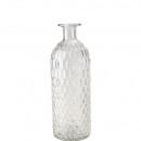 Glas Flasche Molde, D8,5cm, H24,5cm, rund, kurzer